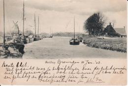 274746Groningen, Reitdiep 1903 (bovenin Een Vouw, Zie Achterkant - Groningen
