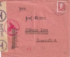 DANEMARK LETTRE CENSUREE POUR MÜLHEIM - 1913-47 (Christian X)