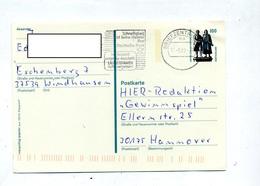 Carte Postale 1.00 Goethe Schiller Flamme Mettre Adresse Du Pays - [7] République Fédérale