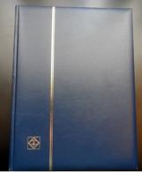 Classeur Leuchtturm  Confort S  64 Pages Noires- Intercal-cristal - 9 Bandes / Page -  Couleur Bleue  - Très Bon état - Albums à Bandes