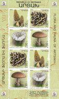 Nagorno Karabakh Armenia 2019 Flora Mushrooms Minisheet MNH - Armenia