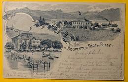 9275 -  Souvenir Du Port De Pully En 1901 - VD Vaud