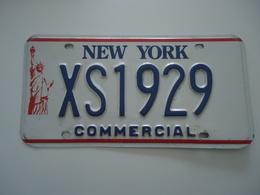 VERITABLE Plaque D'immatriculation - Etats-Unis - NEW YORK - Commercial - Plaques D'immatriculation