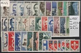 FR 1054 - FRANCE Lot 36 Val. Neufs**/* Majorité ** De L'année 1958 Côte 46 € - France