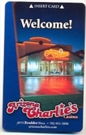 Arizona Charlie's Casino & Hotel, Las Vegas, Used Magnetic Room Key Card, Arizonach-4 - Cartas De Hotels