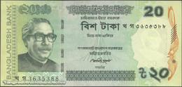 TWN - BANGLADESH 55Aa2 - 20 Taka 2012 Various Prefixes - Western Numerals At Left UNC - Bangladesh