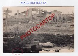 MARCHEVILLE EN WOEVRE-CARTE PHOTO Allemande-Guerre 14-18-1 WK-FRANCE-55- - Other Municipalities