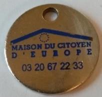 Jeton De Caddie - MAISON DU CITOYEN D' EUROPE - En Métal - - Jetons De Caddies