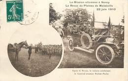 CPA 54 Meurthe Et Moselle La Mission Ottomane à Nancy Revue Plateau Malzeville Voiture Général Rechat Pacha Militaria - Nancy