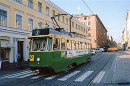 Helsinki (Finlande) Tramways D'Helsinki - Ligne 2 – Rame N°11 - Finlande