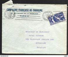 Enveloppe Avec Cachet De Paris-N°327-Pour La Belgique - Poststempel (Briefe)
