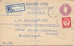 Great Britain Registered Letter Sent To Germany Field Post Office 12-11-1955 - 1952-.... (Elizabeth II)