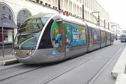 Nice (06) 21/03/ 2010 Tramway Ligne 1-  Station Jean Médecin Rame N°5 Décorée Aux Couleurs Du Carnaval De Nice - Tranvía