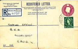 Great Britain Registered Letter Sent To Germany Field Post Office 1955 - 1952-.... (Elizabeth II)
