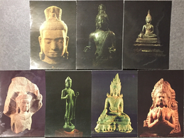 Budha, Bangkok Museum. 7 Cartes. - Thaïlande