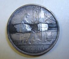 Méd. 36. Jadis Aujourd'hui. Monnaie De Bruxelles 1910. A. Michaux. - Royal / Of Nobility