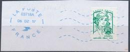 France - Marianne De Ciappa Et Kawena YT A1215 Obl. Ondulations Et Dateur Rond Bleu NEOPOST Sur Fragment - France