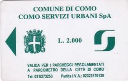 CITTA DI COMO SERVIZI URBANI CARD PARCHEGGI - Eintrittskarten