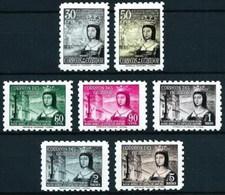 Ecuador Aereo 253/257 + A 253/257** Isabel. 1954 - Ecuador