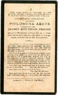 Dp. Aerts Philomena. Echtg. Verlooy Jacobus. ° Wiekevorst 1857 † Booischot 1929 - Religion & Esotérisme
