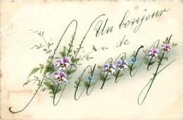 CPA 54 Meurthe Et Moselle Nancy Un Bonjour De - Souvenir - Fleurs - Violettes - Nancy