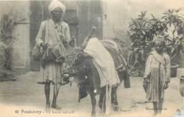 Inde - Pondichéry - Le Boeuf Savant - Défaut En Bas à Droite - India