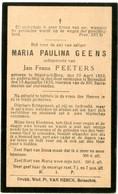 Dp. Geens Maria. Echtg. Peeters Jan. ° Heist-op-den-Berg 1852 † Booischot 1933 - Religion & Esotérisme
