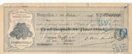 612/30 - Reçu TP Grosse Barbe BXL Effets De Commerce 1906 - Entete Illustrée Médailles EXPOS Paris , BXL , Londres - Altre Esposizioni Internazionali