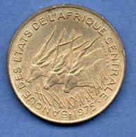 Afrique Centrale -  25  Francs 1975  -  Km # 10  -  état  TTB - Colonies