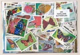 OFFER   Lot Differents Theme / Topics - Paqueteria  200 Diferentes Mariposas - Mezclas (max 999 Sellos)