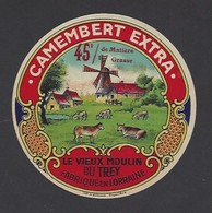 Etiquette Fromage Camembert  -  Le Vieux Moulin Du Trey -  Fabriqué En Lorraine - Cheese