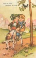 ILLUSTRATION ENFANTS SUR UNE CHEVRE - Dibujos De Niños