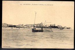 LE CROTOY 80 - Un Pêcheur De Mulets, Vue Prise En Mer - #B292 - Le Crotoy