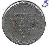 *notgeld  Vochwinkel  5 Pfennig  1918  Fe   564.4 - Autres