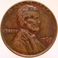 United States Of America 1 Cent 1963 XF - Emissioni Federali