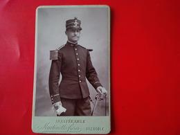 PHOTO MILITAIRE EDMOND ACHARD CDV - Guerre, Militaire