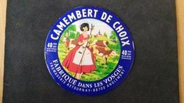 Etiquette De Fromage Camenbert De Choix , Anglemont - Cheese
