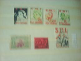 ,5 Stamps Pro Refugiatele And 7 Stamps SRI - Spanish Civil War Labels