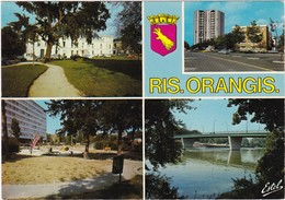 RIS-ORANGIS: Hôtel De Ville, Tour Des Oiseaux,Résidence De La Gare, Seine Au Pont De Champrosay - Ris Orangis