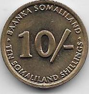 Somalie - 10 Schillings - 2002 - Somalia