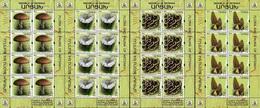 Nagorno Karabakh Armenia 2019 Flora Mushrooms 4 Minisheets MNH - Hongos