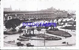 125204 ARGENTINA BUENOS AIRES PLAZA ONCE Y ESTACION DE TREN STATION TRAIN  POSTAL POSTCARD - Argentinien