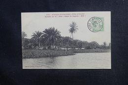 CÔTE D'IVOIRE -  Affranchissement Taxe De Tiassale Sur Carte Postale En 1910 - L 48216 - Costa De Marfil (1892-1944)