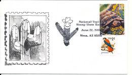 USA Cover National Topical Stamp Show Station 22-6-2001 Mesa AZ. With Cachet - Enveloppes évenementielles