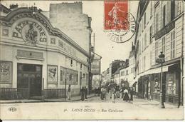 * SAINT DENIS, Rue Catulienne , CPA ANIMEE , 1912 - Saint Denis