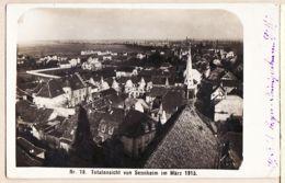 X68046 Peu Commun TOTALANSICH Von SENNHEIM Im März 1915 Cernay Alsace Periode Allemande Carte-Photo - Cernay
