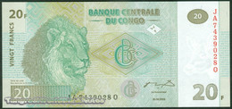 TWN - CONGO DEM. REP. 94 - 20 Francs 30.6.2003 JA-Q (HdM) UNC - Congo