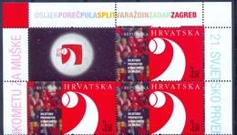 HR 2009-889 HANDBALL, HRVATSKA CROATIA. 3 X 1v + Label - Croatie