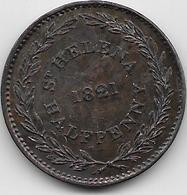 Sainte Hélène - Half Penny - 1821 - Sainte-Hélène