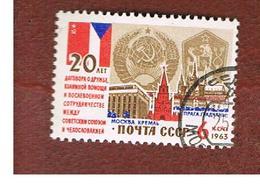 URSS - SG 2922 - 1963  SOVIET-CZECH  FRIENDSHIP TREATY    - USED° - RIF. CP - 1923-1991 USSR